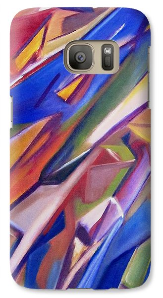 Galaxy Case featuring the painting Colorful Abstract by Patricia Cleasby
