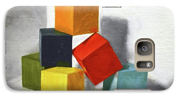 Galaxy Case featuring the painting Colorful Blocks by Roena King