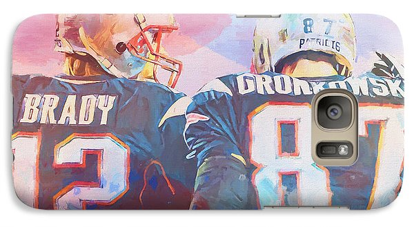 Galaxy Case featuring the painting Colorful Brady And Gronkowski by Dan Sproul