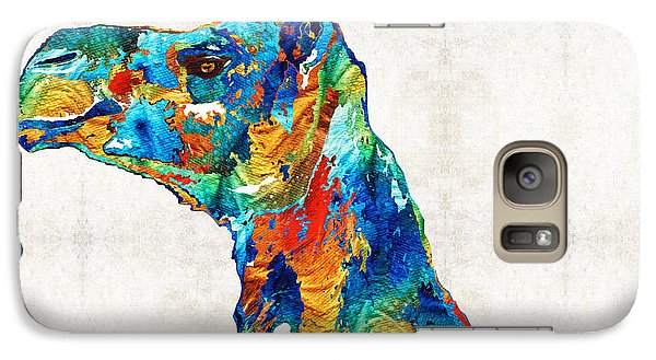 Colorful Camel Art By Sharon Cummings Galaxy S7 Case by Sharon Cummings