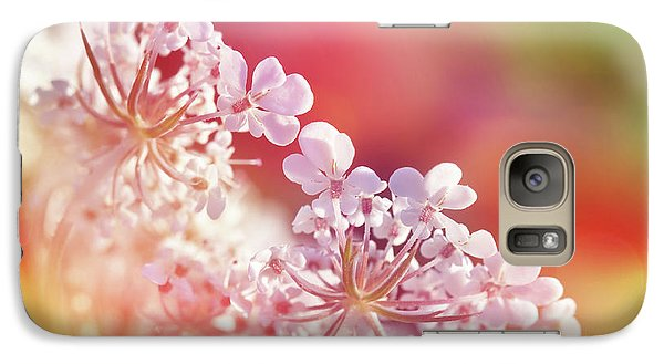 Carrot Galaxy S7 Case - Colorful Carrot Flower by Delphimages Photo Creations