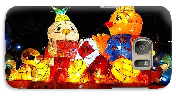 Galaxy Case featuring the photograph Colorful Chinese Lanterns In The Shape Of Chickens by Yali Shi