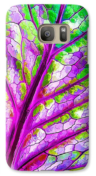 Galaxy Case featuring the digital art Colorful Coleus Abstract 1 by ABeautifulSky Photography
