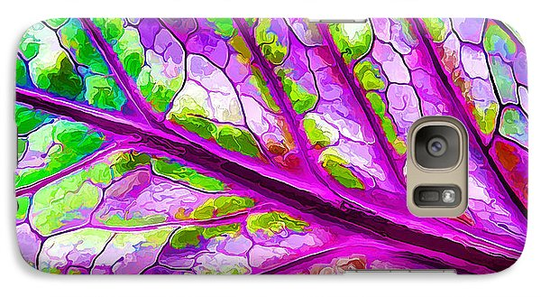 Galaxy Case featuring the digital art Colorful Coleus Abstract 2 by ABeautifulSky Photography