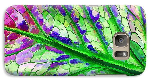 Galaxy Case featuring the digital art Colorful Coleus Abstract 4 by ABeautifulSky Photography