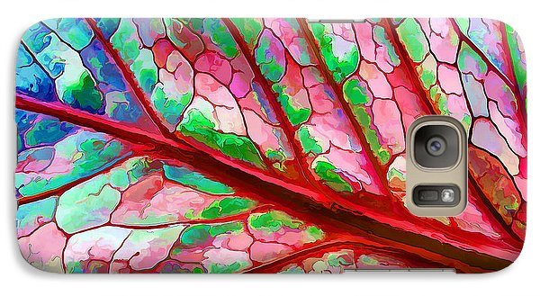 Galaxy Case featuring the digital art Colorful Coleus Abstract 5 by ABeautifulSky Photography