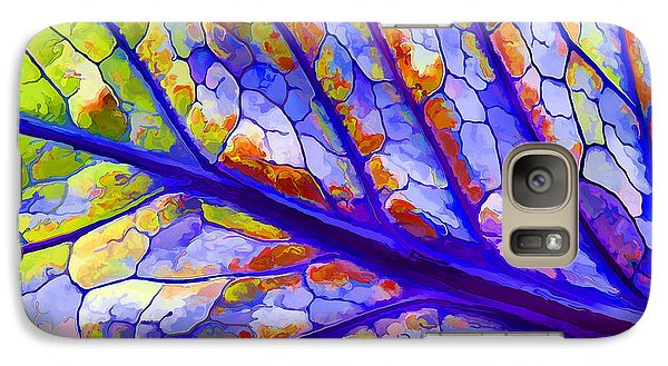 Galaxy Case featuring the digital art Colorful Coleus Abstract 6 by ABeautifulSky Photography