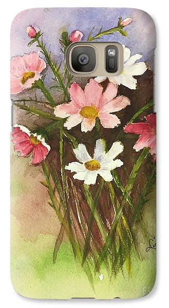 Galaxy Case featuring the painting Colorful Cosmos by Lucia Grilletto