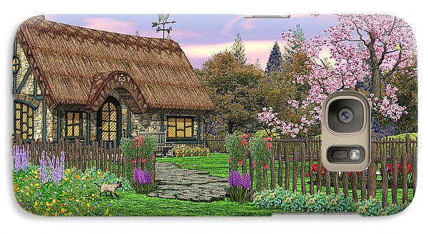 Galaxy Case featuring the digital art Colorful Country Cottage by Walter Colvin