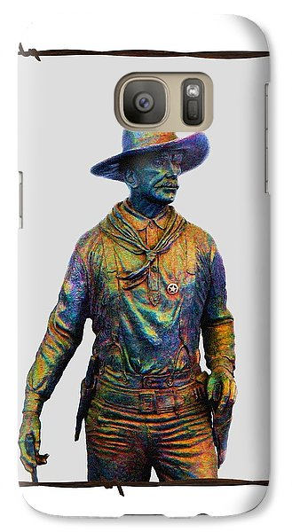 Galaxy Case featuring the photograph Colorful Cowboy Sculpture by Ellen O'Reilly