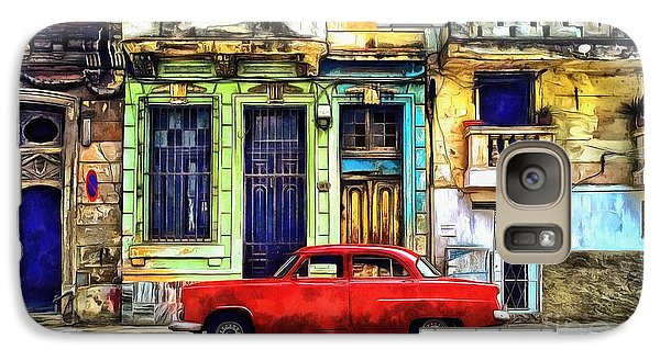 Galaxy Case featuring the painting Colorful Cuba by Edward Fielding