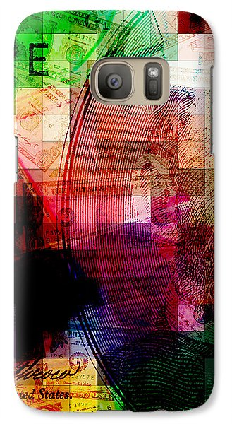 Galaxy Case featuring the photograph Colorful Currency Collage by Phil Perkins