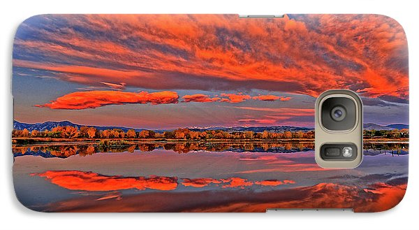 Galaxy Case featuring the photograph Colorful Fall Morning by Scott Mahon