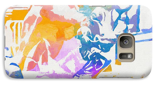 Galaxy Case featuring the painting Colorful Fearless Girl by Dan Sproul