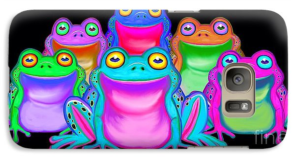 Galaxy Case featuring the painting Colorful Froggies by Nick Gustafson