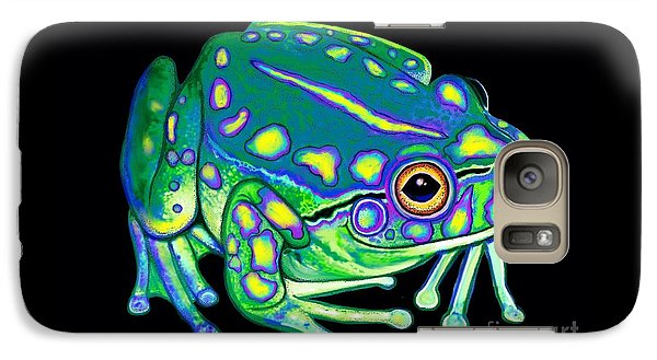 Galaxy Case featuring the painting Colorful Froggy 2 by Nick Gustafson