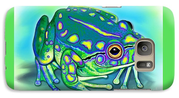 Galaxy Case featuring the painting Colorful Froggy by Nick Gustafson