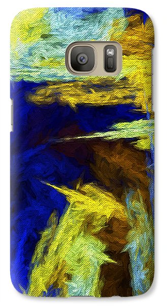 Galaxy Case featuring the digital art Colorful Frost Abstract by Andee Design