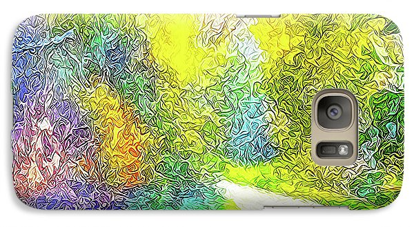 Galaxy Case featuring the digital art Colorful Garden Pathway - Trail In Santa Monica Mountains by Joel Bruce Wallach