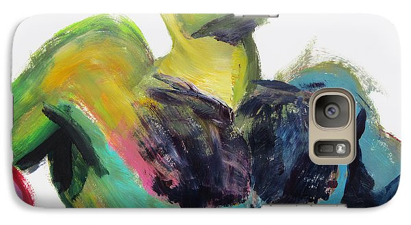 Galaxy Case featuring the painting Colorful Hairy Boxer by Shungaboy X