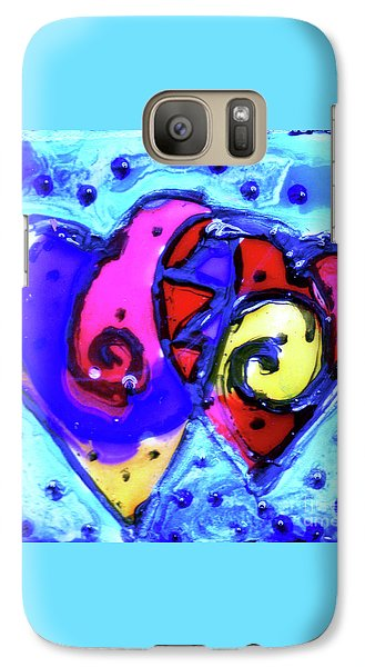 Galaxy Case featuring the painting Colorful Hearts Equals Crazy Hearts by Genevieve Esson