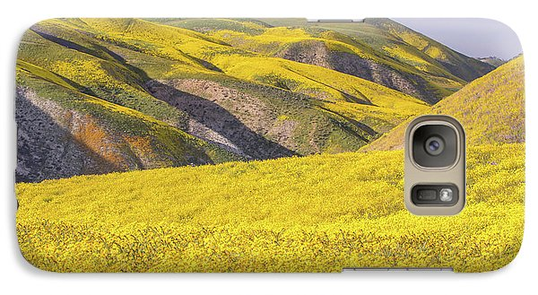Galaxy Case featuring the photograph Colorful Hill And Golden Field by Marc Crumpler