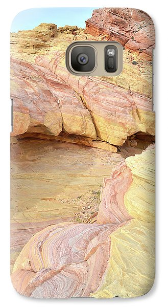 Galaxy Case featuring the photograph Colorful Hilltop In Valley Of Fire by Ray Mathis