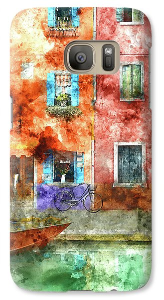 Colorful Houses In Burano Island, Venice Galaxy S7 Case