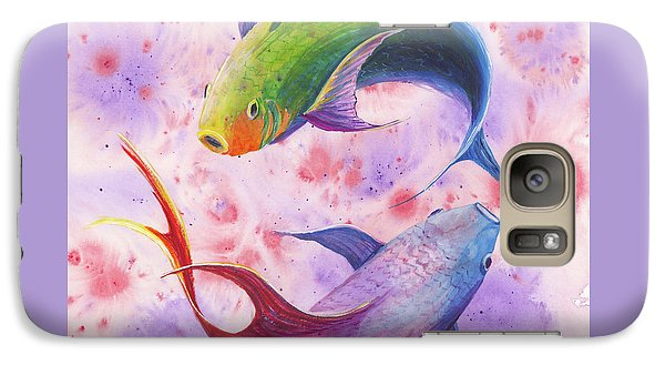 Galaxy Case featuring the painting Colorful Koi by Darice Machel McGuire