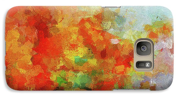 Galaxy Case featuring the painting Colorful Landscape Art In Abstract Style by Ayse Deniz