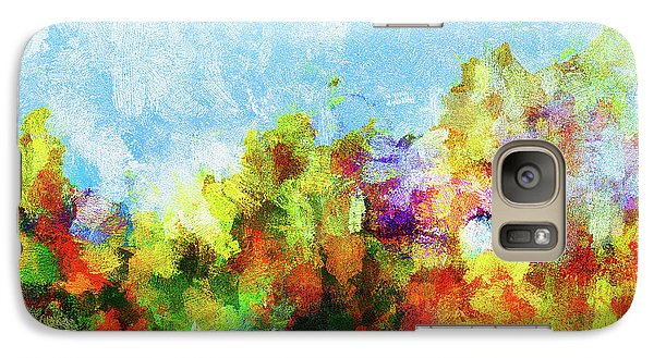 Galaxy Case featuring the painting Colorful Landscape Painting In Abstract Style by Ayse Deniz