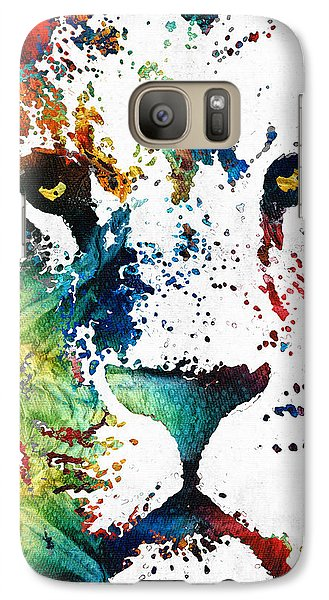 Colorful Lion Art By Sharon Cummings Galaxy S7 Case by Sharon Cummings