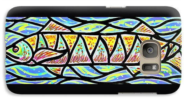 Galaxy Case featuring the painting Colorful Longfish by Jim Harris