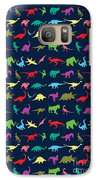 Colorful Mini Dinosaur Galaxy S7 Case by Naviblue