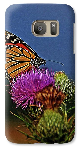 Galaxy Case featuring the photograph Colorful Monarch by Sandy Keeton