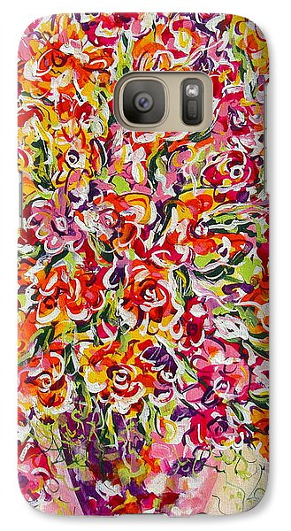 Galaxy Case featuring the painting Colorful Organza by Natalie Holland