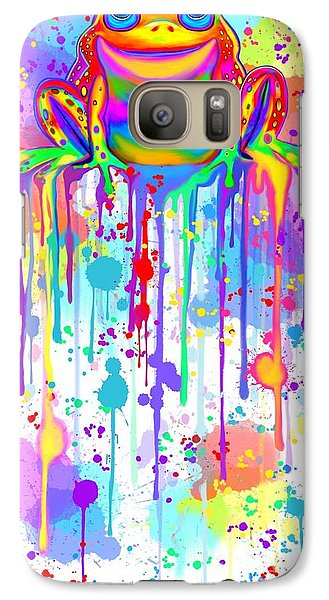 Galaxy Case featuring the painting Colorful Painted Frog  by Nick Gustafson