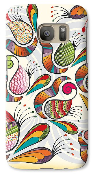 Colorful Paisley Pattern Galaxy S7 Case