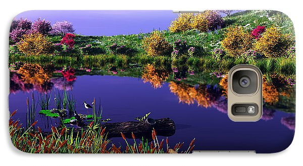 Galaxy Case featuring the digital art Colorful Pond by Walter Colvin