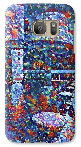 Galaxy Case featuring the painting Colorful Rock And Roll Hall Of Fame Museum by Dan Sproul