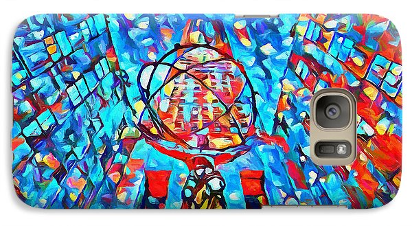Galaxy Case featuring the painting Colorful Rockefeller Center Atlas by Dan Sproul