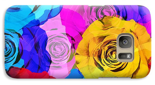 Rose Galaxy S7 Case - Colorful Roses Design by Setsiri Silapasuwanchai
