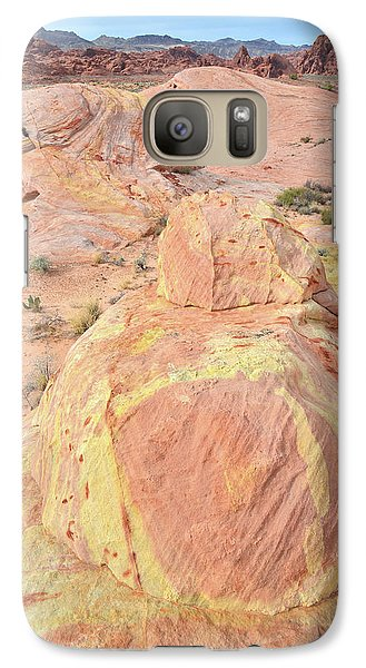Galaxy Case featuring the photograph Colorful Sandstone In North Valley Of Fire by Ray Mathis