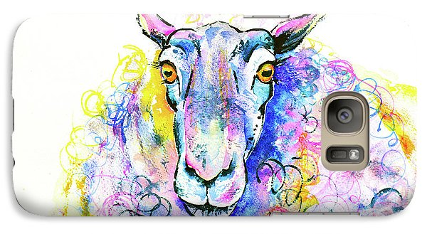 Galaxy Case featuring the painting Colorful Sheep by Zaira Dzhaubaeva
