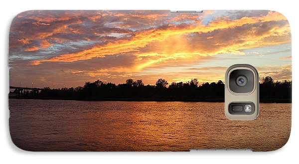 Galaxy Case featuring the photograph Colorful Sky At Sunset by Cynthia Guinn