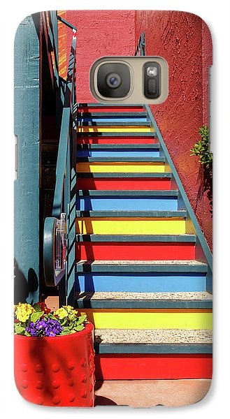 Galaxy Case featuring the photograph Colorful Stairs by James Eddy