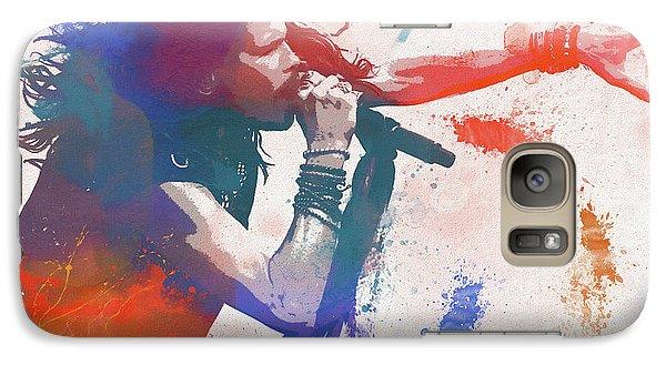 Colorful Steven Tyler Paint Splatter Galaxy S7 Case