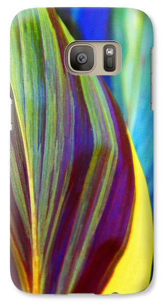 Galaxy Case featuring the photograph Colorful Ti Leaves by Kerri Ligatich