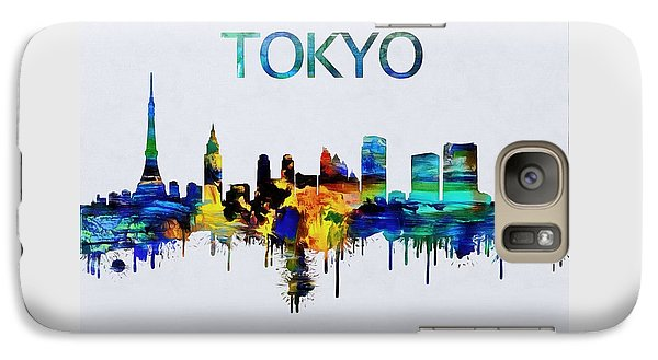 Colorful Tokyo Skyline Silhouette Galaxy S7 Case