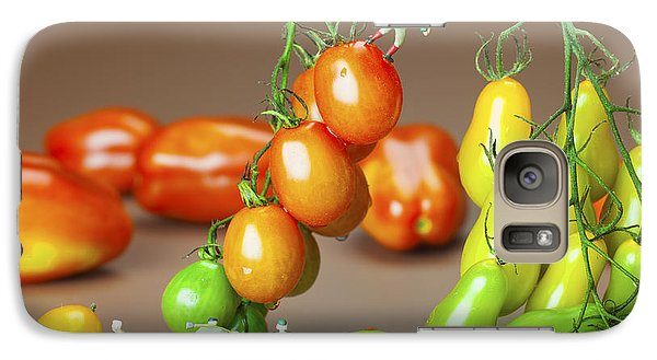 Galaxy Case featuring the photograph Colorful Tomato Harvest Little People On Food by Paul Ge